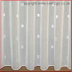 Trinity White Muslin Net Curtains