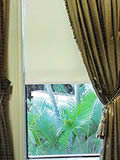 gree curtains with tie back