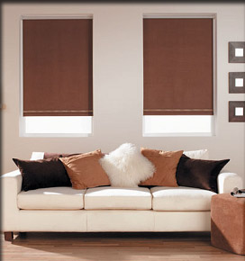 Blinds roller chocolate brown