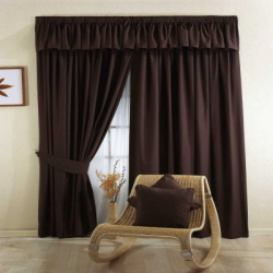 Black Ready Made Curtain